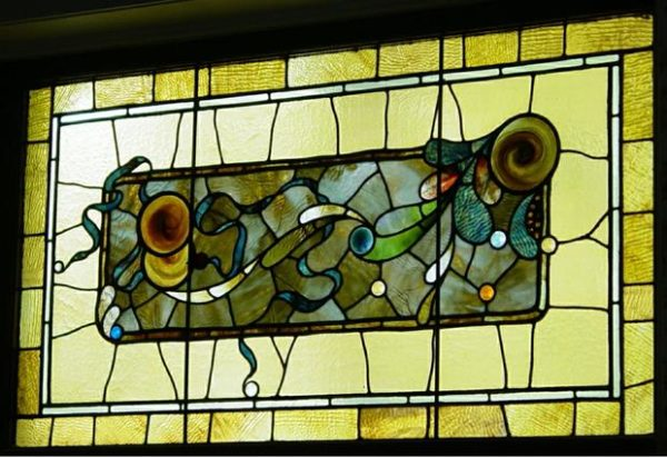 Stained Glass In West Center Parlor