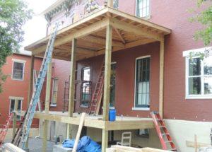 Side Porch Construction