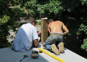 Bob and Dalton Installing Flashing